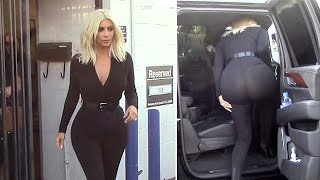 getlinkyoutube.com-X17 EXCLUSIVE - Kim Kardashian Wears Pants So Tight You Can See Through Them!