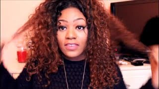 getlinkyoutube.com-How I Revive Dry Curly Hair/ Weave Tutorial | Miss Nicki x