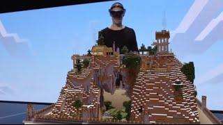 getlinkyoutube.com-Minecraft Hololens demo at E3 2015 (amazing!)