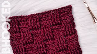 getlinkyoutube.com-Crochet Basketweave Stitch