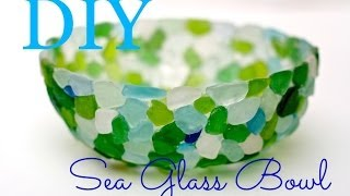 getlinkyoutube.com-How to make a Seaglass bowl with tacky glue and sandwich wrap!