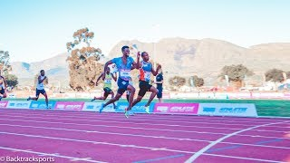 ADAMS 20.01 and ANASO 20.07 battles it out to the line in the Men's  200m