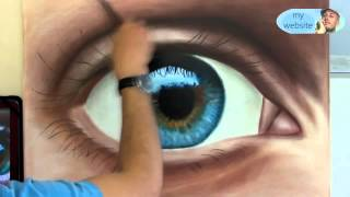 getlinkyoutube.com-How To Draw a realistical Eye painting in dry brush