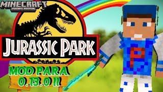 getlinkyoutube.com-MINECRAFT PE [0.13.0] - [MOD] Jurassic Park MOD / Tenha Dinossauros No MCPE 0.13.0 !!!