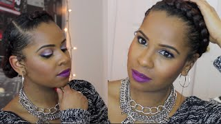 getlinkyoutube.com-The Goddess Braid| Protective Style Natural Hair