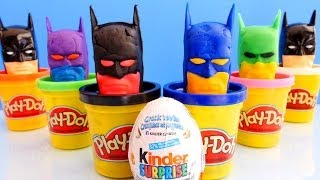getlinkyoutube.com-How To Make Kinder Surprise Play Doh Super Hero Eggs Like Batman Play Dough Do It Yourself Toy Eggs
