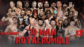 getlinkyoutube.com-WWE '13 Royal Rumble 2013 Simulation: 30 Man Royal Rumble
