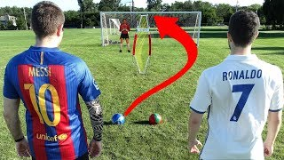 Cristiano Ronaldo vs. Messi - Free Kick Challenge | In Real Life!