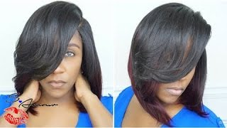 getlinkyoutube.com-DEEP SIDE PART BOB INSTALL | CUT & STYLE | NO HAIR OUT | ZURY LUREX HAIR