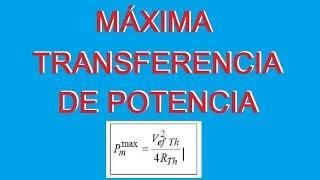 getlinkyoutube.com-Tutorial (Explicacion) Máxima Transferencia de Potencia Ejercicios resueltos Circuitos