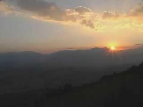 Albania, Dibra e Madhe, sunset in Diber