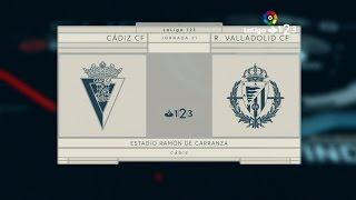 CÁDIZ C.F., 0; REAL VALLADOLID, 1 (LIGA 16/17, JORNADA 21, 13-01-2017)