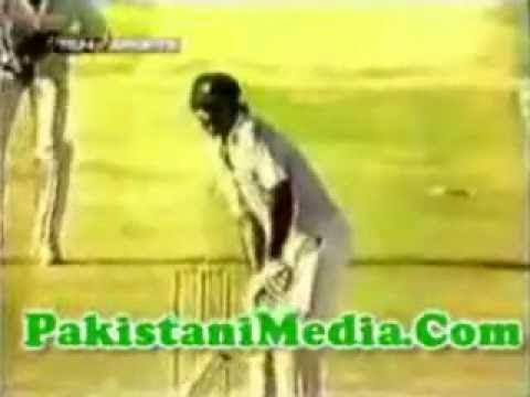 Javed Miandad last ball sixer in sharjah cup final 1986