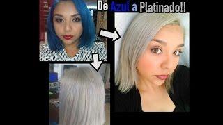getlinkyoutube.com-DE CABELLO AZUL A PLATINADO?... Con Loquay ( silver hair , white hair)