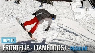 getlinkyoutube.com-How To Tame Dog (Front Flip) On A Snowboard (Regular)