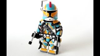 getlinkyoutube.com-Custom LEGO: Star Wars - Clone Commander Minifigure.