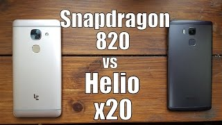 Snapdragon 820 vs Helio x20 Speed test/Benchmark/Gaming (Adreno 530 vs Mali t880 GPU)Comparison