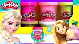 getlinkyoutube.com-Play Doh Confete Bonecas Glitter Glider Disney Frozen com Vestidos Magic Clip com Brilho Brilhante