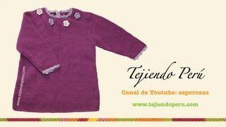 getlinkyoutube.com-Vestido para niñas de 2 a 3 años tejido en dos agujas