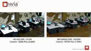 Onvia HD-SDI vs D1 & 960H Analog DVR (Indoor Real Performance Test)