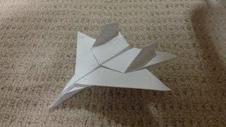 折り紙 紙飛行機 戦闘機 F15 折り方 作り方 How to make an F15 Eagle Jet Fighter Paper Plane origami