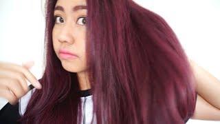 getlinkyoutube.com-HairColor Update :: Purple Pink Hair Color สีผมม่วงเปลือกมังคุด by Sukho Salon | Bucciime