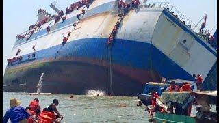 getlinkyoutube.com-video detik-detik tenggelamnya kapal KM Wihan Sejahtera di Teluk Lamong Surabaya