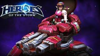 getlinkyoutube.com-♥ Heroes of the Storm (Gameplay) - SGT. Hammer, SIEGE TANK