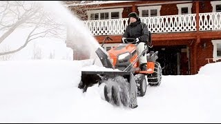getlinkyoutube.com-Husqvarna tractors - how to attach snow thrower