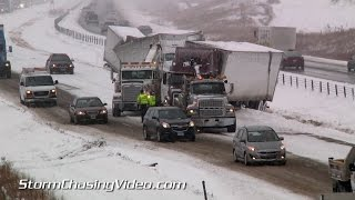 getlinkyoutube.com-11/26/2014 Interstate 35 - Medford, MN Traffic Nightmare  lots of crashes