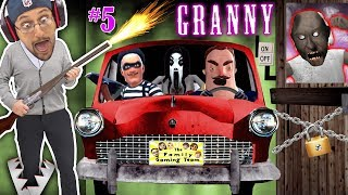 GRANNY's CAR HIDING + TRAPPING HER!! Hello Neighbor Helps Duddy & FORTNITE Invades Game! (FGTEEV #5)