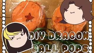getlinkyoutube.com-DIY - Cooking With The Grumps - Dragon Ball Rice Crispy Pops!