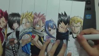 getlinkyoutube.com-Speed Drawing - Dragon Slayers (Fairy Tail)
