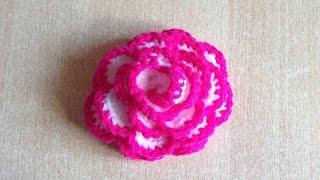 getlinkyoutube.com-Tuto Rose facile au crochet