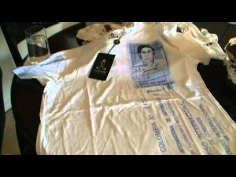 Camisetas de Pablo Escobar hecho por su hijo