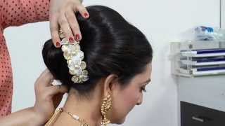 getlinkyoutube.com-Indian-Asian bridal Hairstyle tutorial.