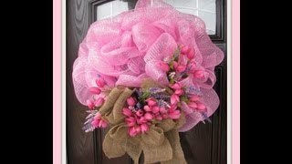 getlinkyoutube.com-Spring Deco / GeoMesh Wreath