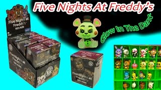getlinkyoutube.com-Full Box Funko Mystery Mini Blind Bag Boxes Surprise Five Nights At Freddy's Glow In The Dark