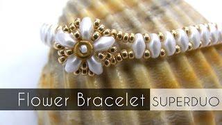 getlinkyoutube.com-Flower Bracelet with Superduo