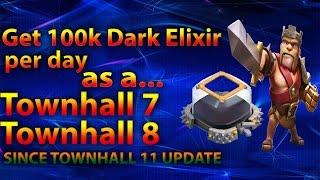 getlinkyoutube.com-Clash Of Clans - Farm 100k Dark elixir per day as a TH7 TH8 OR TH9, Get Barbarian King FAST