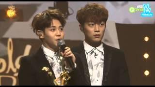 160121 BEAST won 'Album Division' (본상) at '30th Golden Disc Awards'