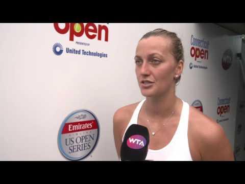 Petra Kvitova 2016 Connecticut Open Quartefinal Interview