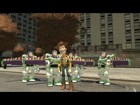 Grand Theft Auto IV - Toy Story Sheriff Woody (MOD) HD