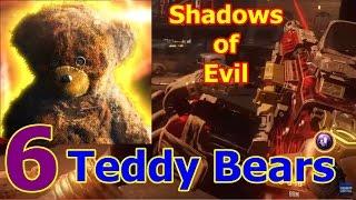 getlinkyoutube.com-6 TEDDY BEARS found! Locations! Easter Egg - Shadows of Evil | BO3 Zombies
