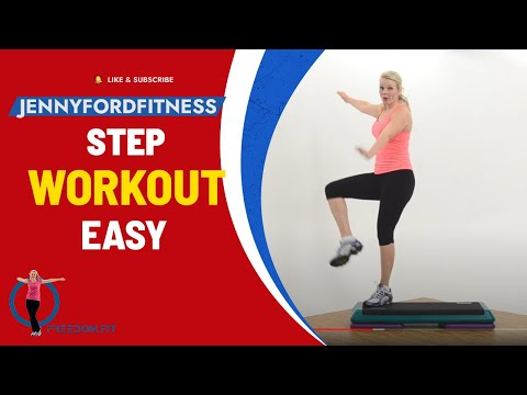 Step Aerobics Quick Cardio Workout Video Anyone Can Do