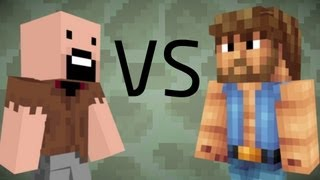 getlinkyoutube.com-Chuck Norris vs. Notch - Minecraft