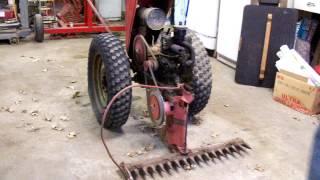 getlinkyoutube.com-Vintage David Bradley Walk Behind Tractor 5751 Briggs & Stratton model 6