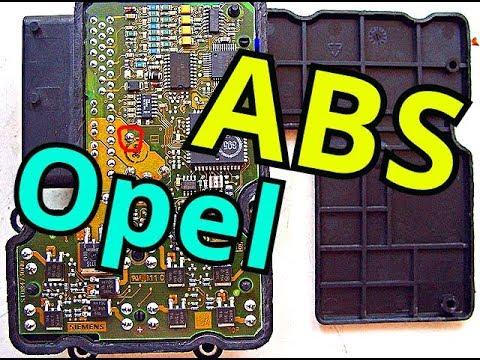 Ремонт блока ABS АБС OPEL ошибка c0121