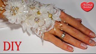 getlinkyoutube.com-Свадебный Браслет Канзаши вместе с каналом Красивые Ногти by Alina Bykova