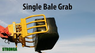 Stronga Round Bale Grab 120. Telescopic telehandler & attachment